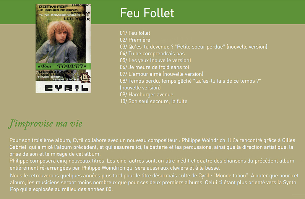 3e album feu follet