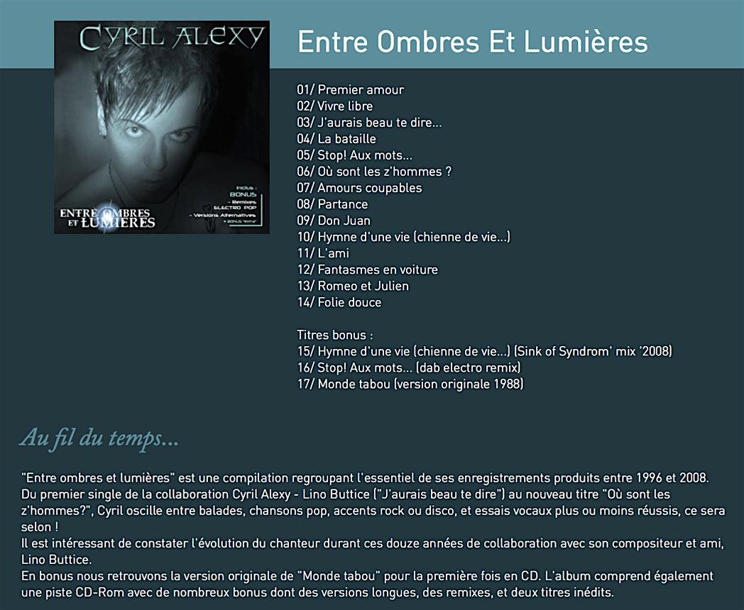 4e album entre ombres et lumie res