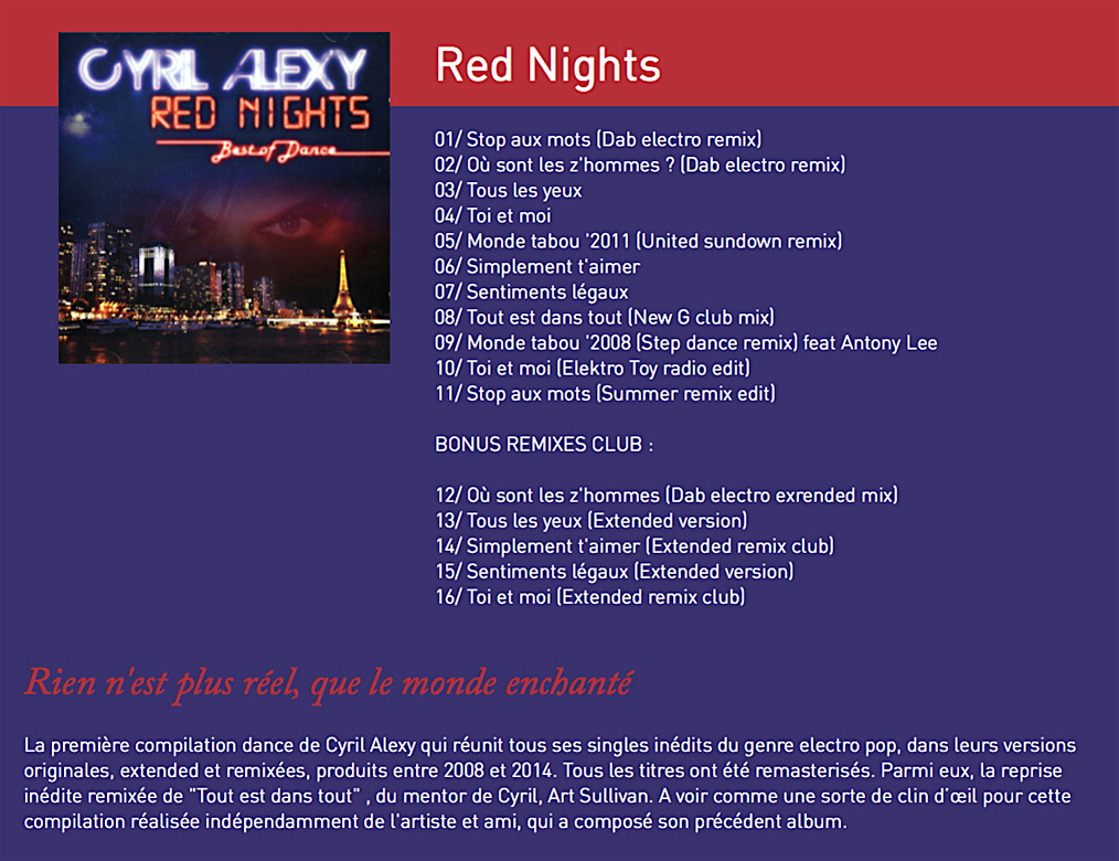 Cyril alexy com 6e album red night