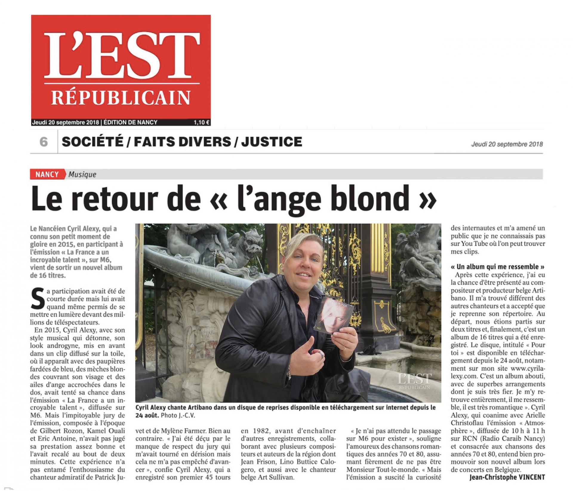 Est republicain 20 sept 2018